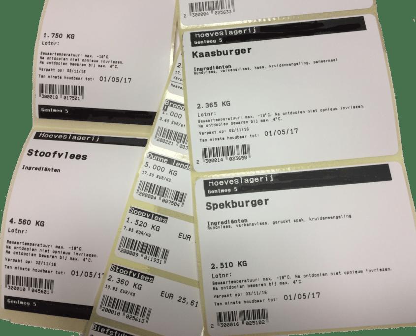 labels met prijzen